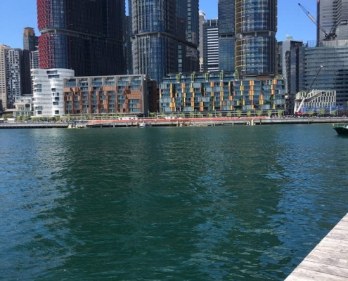 Work with a view - termite inspection at the wharf
